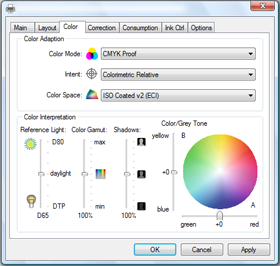 Color profile dialog